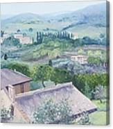 The Rolling Hills Of Tuscany Canvas Print