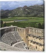 The Roman Theatre In Aspendos Antalya Turkey  Canvas Print