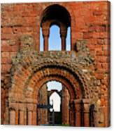 The Romanesque Doorway In The Monastery Canvas Print