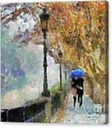 The Romantic Stroll Canvas Print