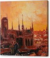 The Roofs Of Gdansk Canvas Print
