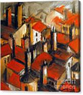 The Roofs Of Lyon Canvas Print