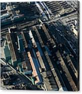 The Rooftops Of Arcelormittal Dofasco Canvas Print