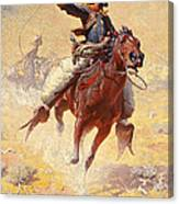 The Roping Canvas Print