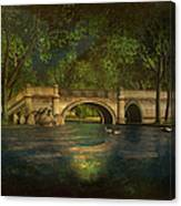 The Rose Pond Bridge 06301302 - By Kylie Sabra Canvas Print