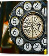 The Rotary Dial Canvas Print
