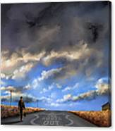 The Route Out Canvas Print