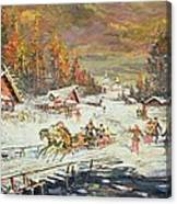 The Russian Winter Canvas Print