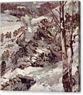The Russians Fighting Their Way Over The Carpathians Canvas Print