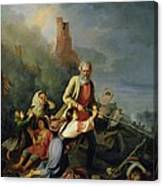 The Russians In 1812, 1855 Oil On Canvas Canvas Print