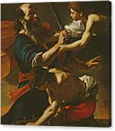 The Sacrifice Of Isaac, 1613 Oil On Canvas Canvas Print