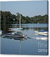 The Sailboats At Great Pond Canvas Print