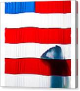 American Flag Salute Canvas Print