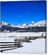 The Sawtooth Mountains Canvas Print