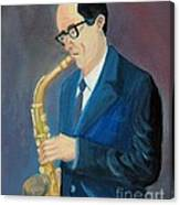 The Saxophonist Canvas Print