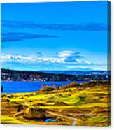 The Scenic Chambers Bay Golf Course Iv - Location Of The 2015 U.s. Open Tournament Canvas Print