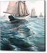 The Schooners Canvas Print