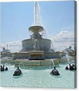 The Scott Fountain On Belle Isle Canvas Print