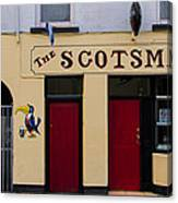 The Scottsmans Bar - Donegal Ireland Canvas Print