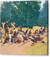 The Scream Of Shrapnel At San Juan Hill Canvas Print