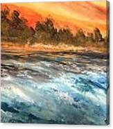The Sea Of Blue Canvas Print