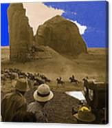 The Searchers   Cast And Crew Monument Valley Arizona 1956 Canvas Print