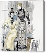 The Season, Fashion Plate For The Canvas Print