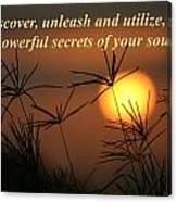 The Secrets Of Your Soul Canvas Print