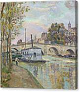 The Seine In Paris  Canvas Print