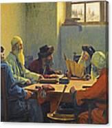 The Seven Rabbis In Jerusalem Canvas Print