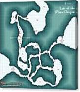 The Shadowed Keep White Dragon Lair Canvas Print