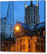 The Shard And Southwark Cathedral Canvas Print