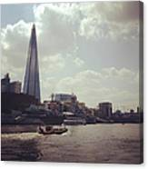 The Shard And Thames Canvas Print