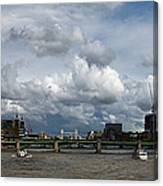 The Shard And The Thames At Southwark Canvas Print