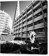 the shard building towering over melior street community garden London England UK Canvas Print