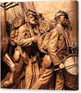 Saint Gaudens -- The Shaw Memorial's Right Side Canvas Print