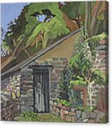 The Shed, Clovelly Oil On Board Canvas Print