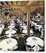 The Ship Cafe Dining Room In Venice Ca 1910 Canvas Print