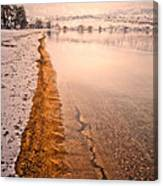 The Shore In Winter Canvas Print