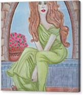 The Sibyl - Grecian Goddess Canvas Print