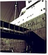 The Side Of The Big Ship Canvas Print