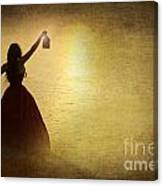 The Lady With The Lamp Canvas Print
