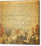 The Signing Of The United States Declaration Of Independence Canvas Print