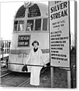 The Silver Streak Train Canvas Print