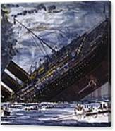 The Sinking Of The Titanic Canvas Print