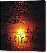 The Sinking Sun Canvas Print