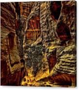The Siq Path Slot Canyon  Canvas Print