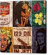 The Six Warhol's Canvas Print