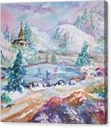 The Skaters Canvas Print