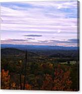 The Smokey Mountains From Hanging Rock State Park Canvas Print
